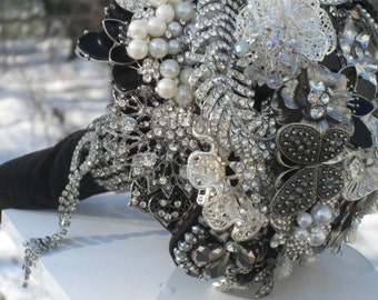 It Is All about the Wow!....Beautiful,Elegant, Brooch and Jeweled Wedding Bouquet , Just for You... Made to Order