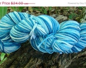 SALE 30% OFF Luxurious Sock Yarn Merino Cashmere Nylon Blend April Phat Fiber Contibution Blue Willow