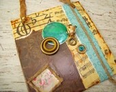 MUSICAL COLLAGE DECOUPAGED   Hanging Wall Art   Original Decoupaged Collage Art