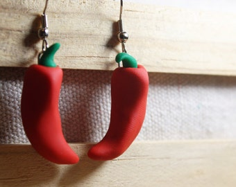Hot Chili Peppers Dangle Earrings