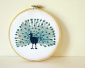 Counted Cross stitch Pattern PDF. Instant download. Peacock. Includes easy beginner instructions.