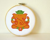 Counted Cross stitch Pattern PDF. Instant download. Ganesh. Includes easy beginners instructions.