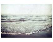 Seascape photograph print, beach wall decor - Beyond the Horizon - dark blue, indigo, nature photograph