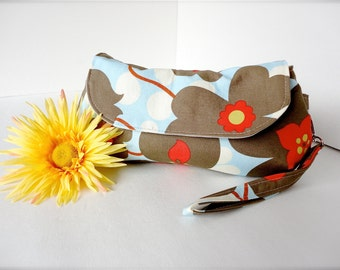 Wristlet Clutch | Bridesmaid Clutch | Amy Butler Every Day Clutch | Morning Glory | Flower