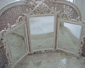 Gorgeous Ornate Vintage Trifold Triple Mirror