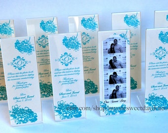 Photo Booth Acrylic Frames Party Favor Hydrangea Spring-Summer Wedding ideas Photo Booth Frame