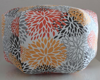 "18"" Ottoman Pouf Floor Pillow Blooms Chili Pepper"