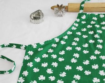 St. Patrick's Day Shamrock Adult Apron