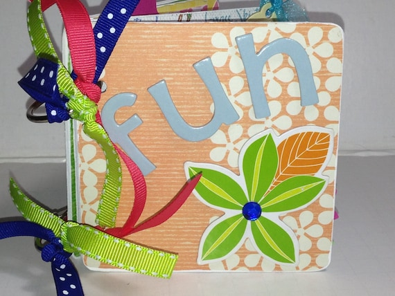 Summer Fun Premade Scrapbook Chipboard Album Hawaii Vacation