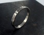 Wedding Band For Men, Made to Order Hammered Wedding Band For Him , Mens Silver Band, Mens Wedding Band, Thin Band