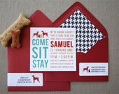 20 Dog Party Invitations