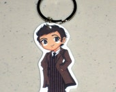 The 10th Doctor - Doctor Who - Keychain, Necklace, Earrings, Charm, Stickers, Tattoos, Embroidered Patch, Magnets