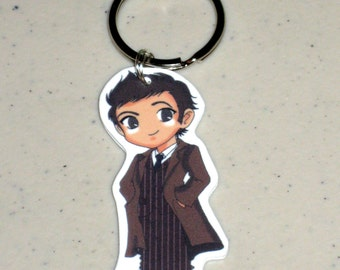 The 10th Doctor - Doctor Who - Keychain, Necklace, Earrings, Charm