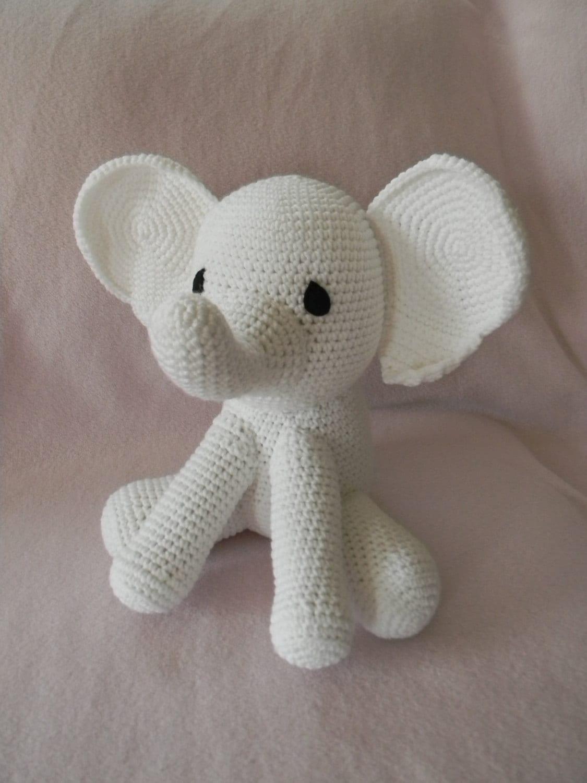 Elephant Stuffed Toy : White elephant stuffed toy