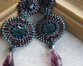 Chandelier Earrings in Arabian Night