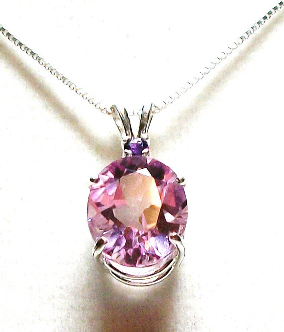"""Pink topaz, pink necklace, mothers day gift, graduation gift, pink jewelry, pink,   """"Cotton Candy"""""""