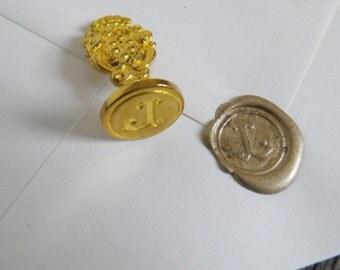 Small Brass Wax Seals Made in Italy perfect for invitations, love letters and gifts