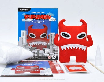 SALE 60% Off - Make Your Own PUPUMON ANGRY Sewing Kit