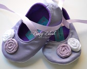 Lavender Baby Soft Ballerina Slippers Baby Shoes