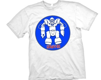 Personalized BOYS ROBOT  2 Circle Space Alien T shirt Name Age Birthday Party Tee All Sizes