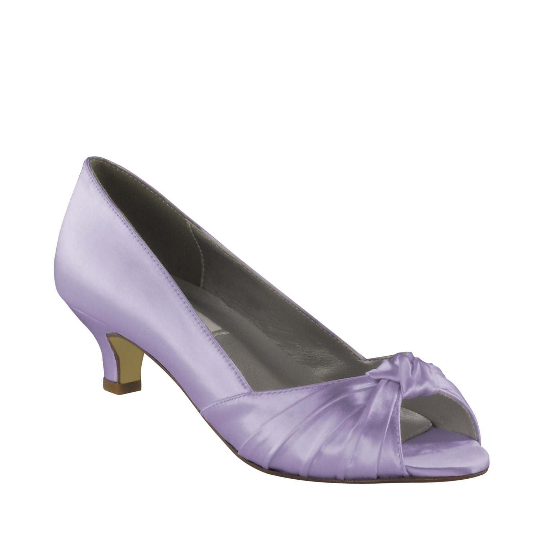Purple Wedding Shoes Low Heel 175 Inch Heel Shoes