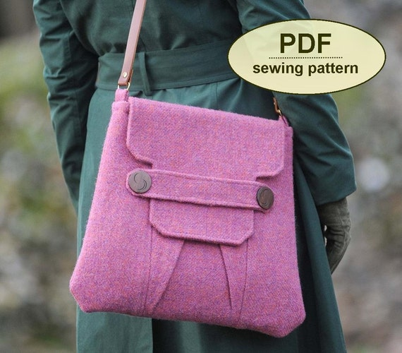 Sewing pattern to make the Polstead Heath Messenger Bag - PDF pattern INSTANT DOWNLOAD