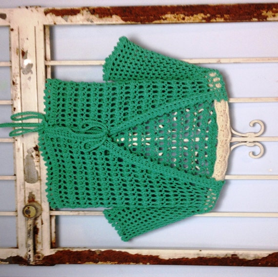 Crochet Jumper Patterns Uk : Crochet Sweater Pattern Instant Download Aquamarine Ballet Tie Sweater ...