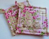 Victorian Rose Potholders
