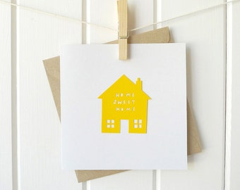 HOME SWEET HOME | paper cutting greetings card
