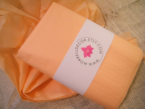 Tissue Paper Peach 48 Sheets Of 20 X 30 Diy By Morrelldecor