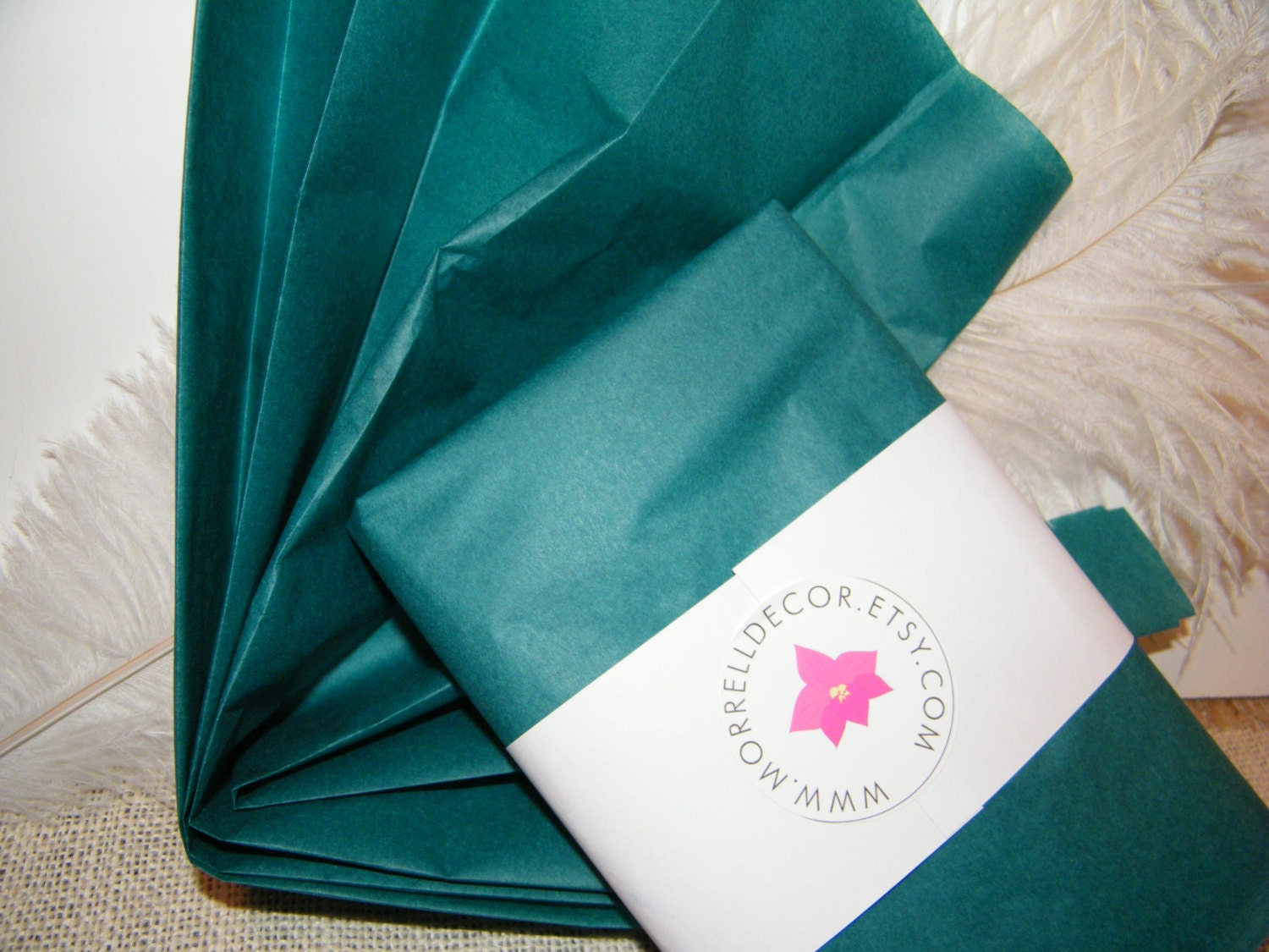 Wedding Gift Paper: Tissue Paper Teal 24 Sheets Wedding Gift Wrap Idea Craft
