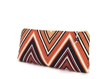 Clutch for Mother of the Groom, Wedding Gift Purse for Mother, Purple Chevron Clutch Bag Mothers Day Gift