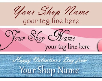 Ready Made Cute Valentine Cupid Heart Shop Banner