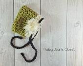 Olive Baby Bonnet