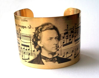Frederic Chopin Piano Music Cuff