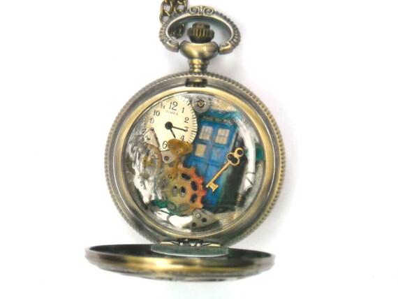 "Doctor Who Pocket Watch Necklace ""Timelocks II"""