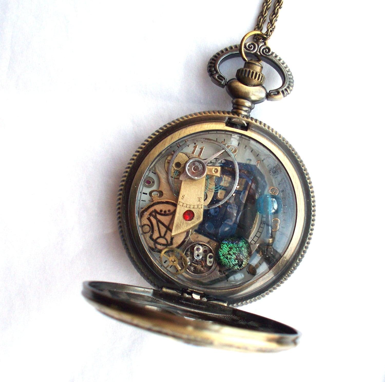 Doctor who pocket watch necklace vortex for Vortix watches