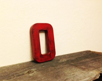 """Distressed Industrial Looking Block Letter - 8"""" - ANY LETTER or COLOR"""
