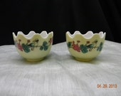 Chinese finger bowls Ming Dynasty style bowls, set of  2