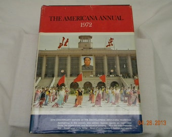 1972 The American Annual history book, birthday 1972