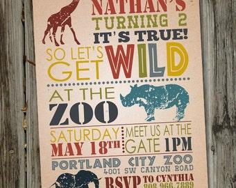 Zoo invitation Etsy