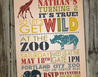 safari invitation  etsy, Birthday invitations