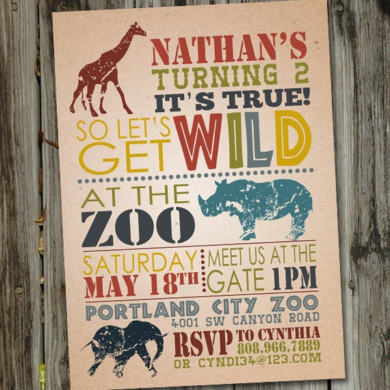 Wild safari birthday invitation zoo birthday invitation zoo il570xn stopboris Gallery