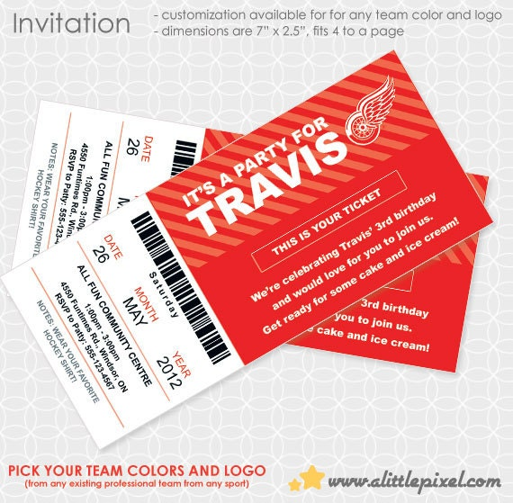Any Sport Team Party Invitation - Personalized Printable