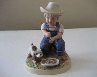 Vintage Homco Denim Days Boy Figurine 1504
