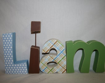 name letters wood letters 4 letter name wooden letters nursery letters baby name letters wood name letters wood letter name letters
