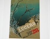 11x14 inch plexiglass frame with LUCERO art