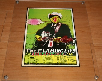 11x14 inch plexiglass frame with The Flaming Lips at Lollapalooza art
