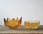 Mid Century amber bowls