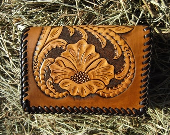 Mens Leather Trifold Wallet
